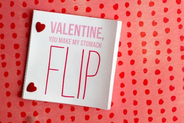 you are my fave: valentine flip book