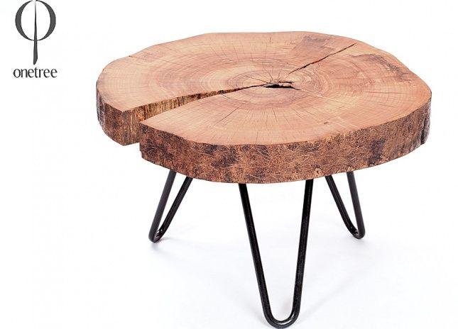 Onetree - surowe meble z litego drewna, idealne do loftowych przestrzeni - i nie tylko! Drewno wykorzystane do stworzenia tych mebli zostało pozyskane w ekologiczny sposób, z publicznych wycinek wymuszonych rozwojem infrastruktury.