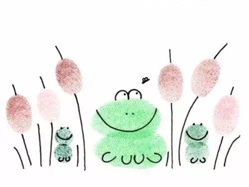 """Gung,gung,"" went the little green frog one day."