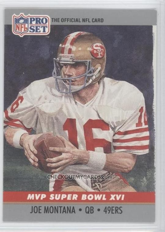 NFL+football+cards   Official NFL Football Card 1990 JOE MONTANA Super by therpsajik