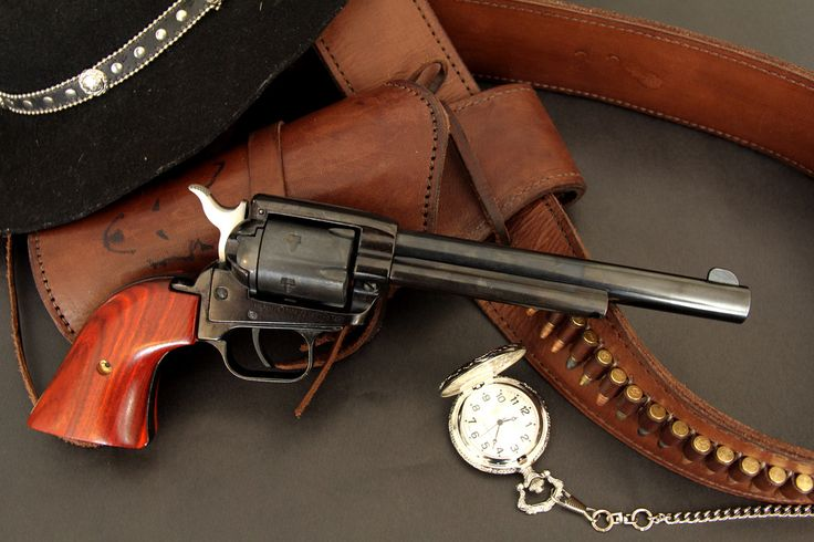 Heritage Rough Rider Single Action Revolver. Just like the Colt Peacemaker. Chris Pratt used a gun like this in Magnificent 7.