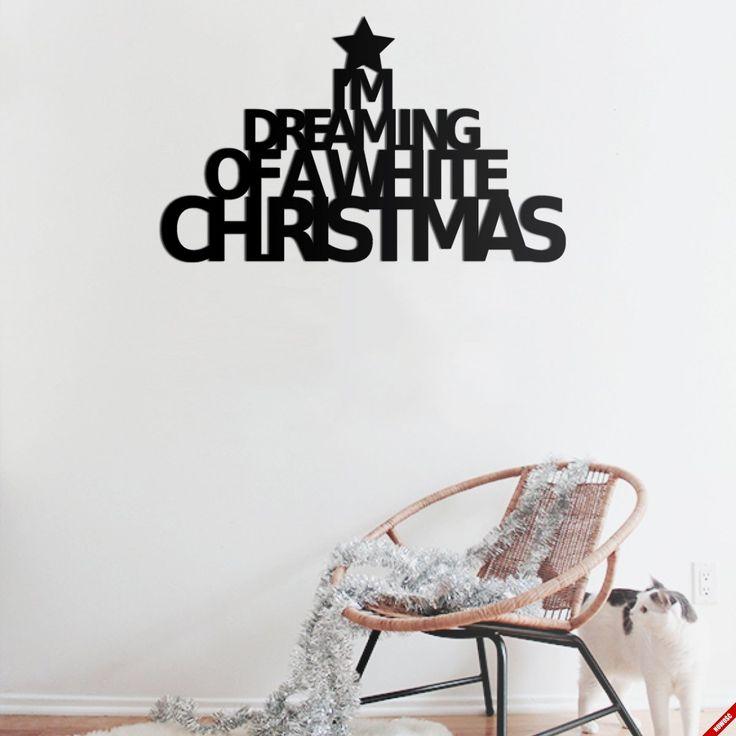Napis na ścianę - I'M DREAMING OF A WHITE CHRISTMAS - NieMaJakwDomu