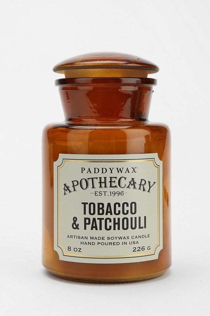 Paddywax Apothecary Candle from Urban Outfitters in Tobacco and patchouli--one of my favorite warm and masculine scents.