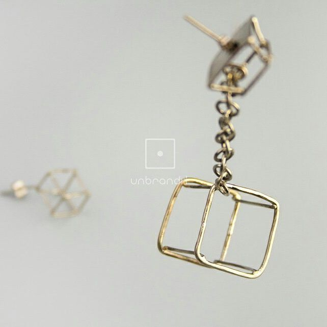 #handmade #jewlery #jewlerydesign #earrings #nickelsilver #greekdesigner #geometric #cube…""