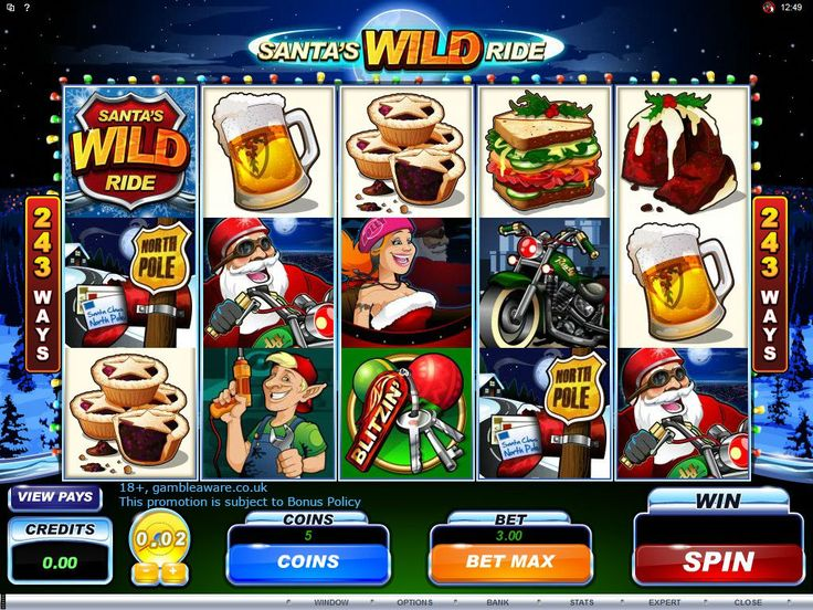 Play Santa's Wild Ride slots at Vegas Paradise this #Christmas and enjoy the wild ride of huge wins. Sign up now and avail £5 bonus