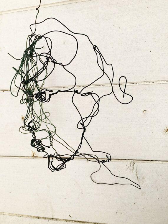 3d Wire Sculpture Woman Head Face Sculpture Wire Sculpture