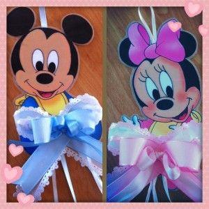 Fiocco nascita Disney topolino topolina