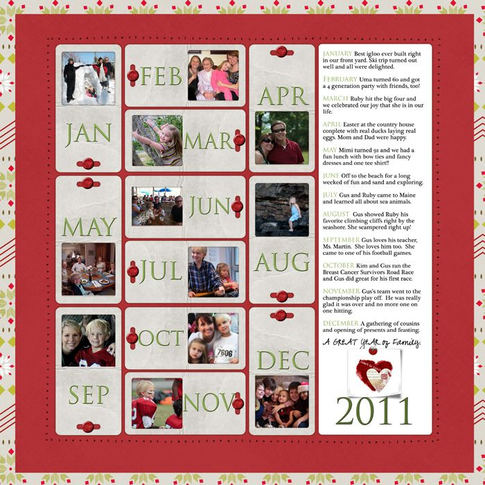 Year End Review Template: 29 Best Images About Scrapbook Layouts