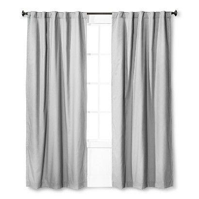 Twill Light Blocking Curtain Panel - Pillowfort™ - Gray