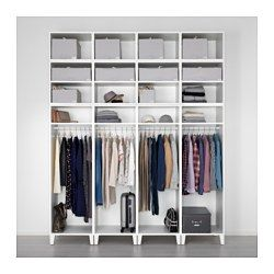 PLATSA Guardaroba, bianco, Fenstad bianco - IKEA
