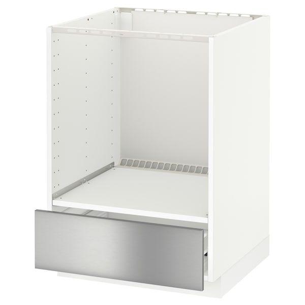 Metod Forvara Element Bas Pour Four Avec Tiroir Blanc Grevsta Acier Inoxydable Ikea Meuble Haut Meuble Lave Vaisselle Four Encastrable