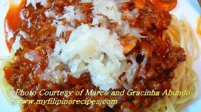 Filipino Spaghetti - My Filipino Recipes