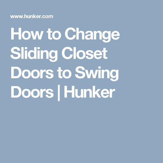 How to Change Sliding Closet Doors to Swing Doors | Hunker