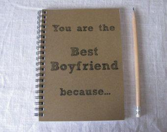 You are the Best Boyfriend because... 5 x 7 von JournalingJane
