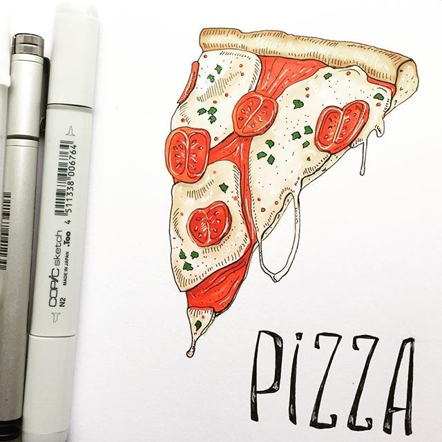 Hungry anyone? :) #sketch #sketchbook #Leuchtturm1913es #pizzalovers