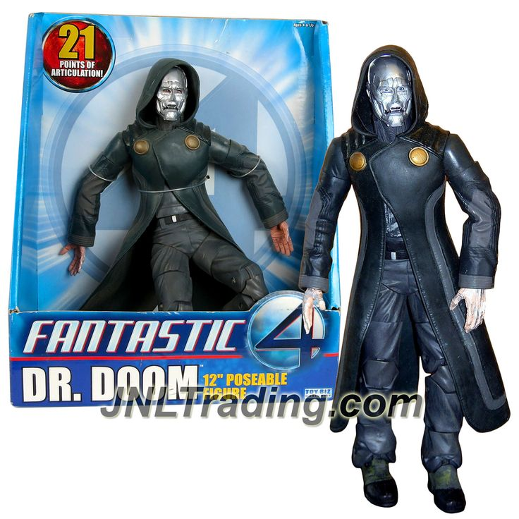 ToyBiz Year 2005 Marvel Fantastic 4 Movie Series 12 Inch Tall Poseable Figure - Doctor Victor Von Doom aka DR. DOOM with 21 Points of Articulation