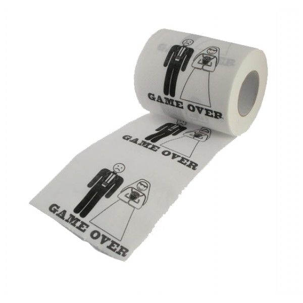 Papier Toilette Mariage Game Over : le rouleau PQ pour enterrement de vie de garçon !