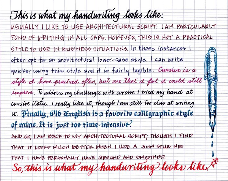 Handwriting analysis writing in all caps