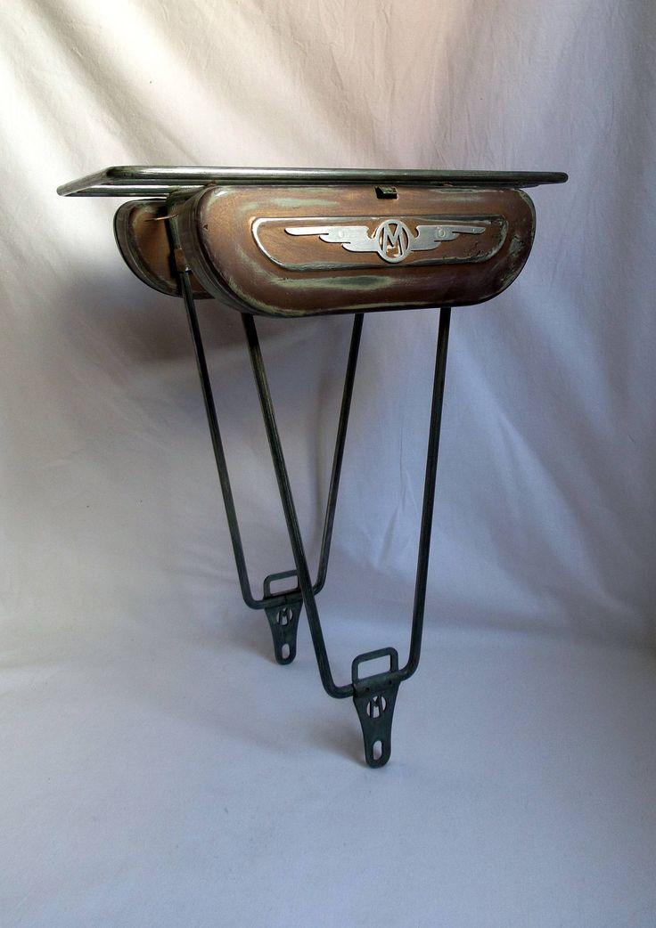 Porte-bagages vélo Motobecane ancien français boîtes à outils métal patinées / Motoconfort / vélo vintage français / sacoches / collection de la boutique LaptiteGermaine sur Etsy