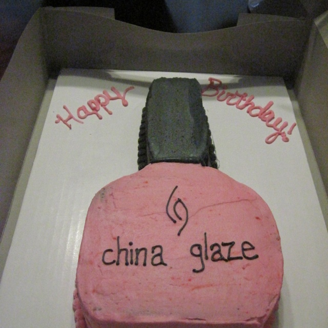 My Birthday Cake this year...China Glaze 22nd birthday cake... Perfect for a young woman who loves her nail polish!!!!