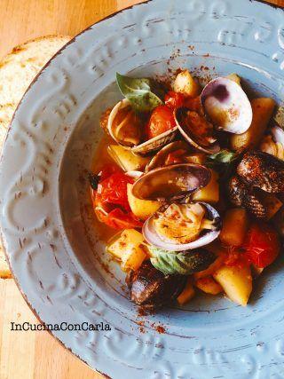 Zuppetta di vongole e patate alla paprika