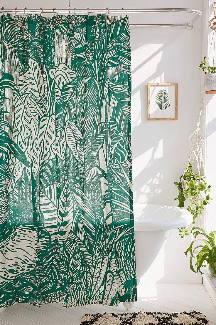 Winter shower curtain - Botanical Shower Curtain Options