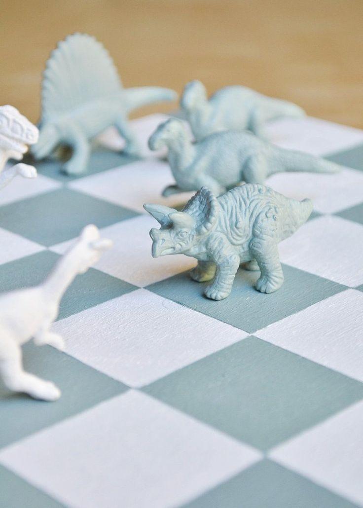 DIY Dinosaur Chess Set