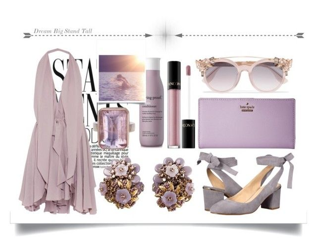 """Purple"" by ik01 ❤ liked on Polyvore featuring Jimmy Choo, Kate Spade, Jamie Joseph, Lancôme, Living Proof, Nine West, Maria Grachvogel, classy and Elegant"