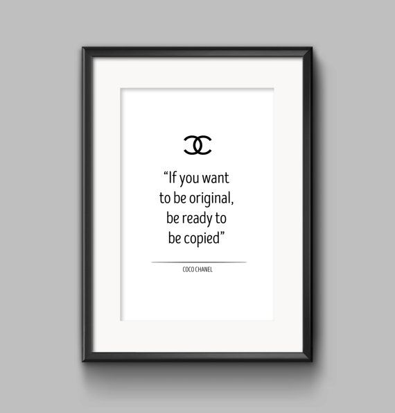 coco chanel print coco chanel poster   coco by OrangeKiteLabs