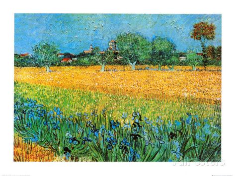 Vy av Arles med irisar - Affischer av Vincent van Gogh på AllPosters.se