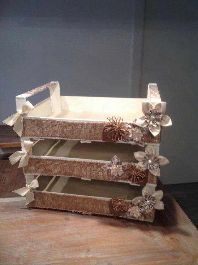 17 mejores ideas sobre estantes de cajas de madera en - Cajas de madera decorativas ...
