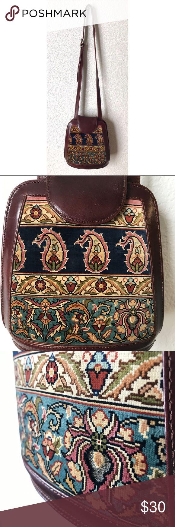 Vintage Silk Carpet Turkish Bag Handmade in Turkey…