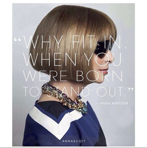 Anna Wintour, food for thought Follow colette_sol on Instagram