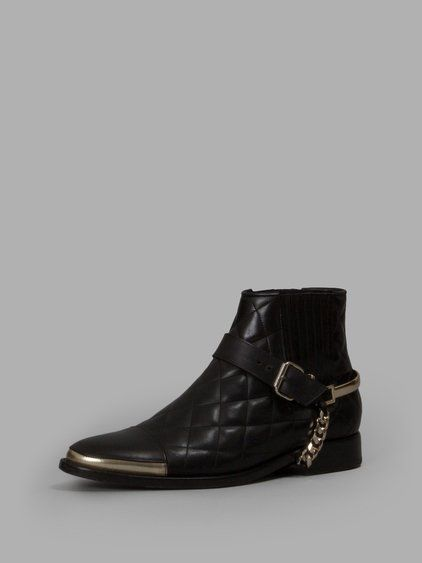 BALMAIN Balmain Men'S Black Padded Boots. #balmain #shoes #boots