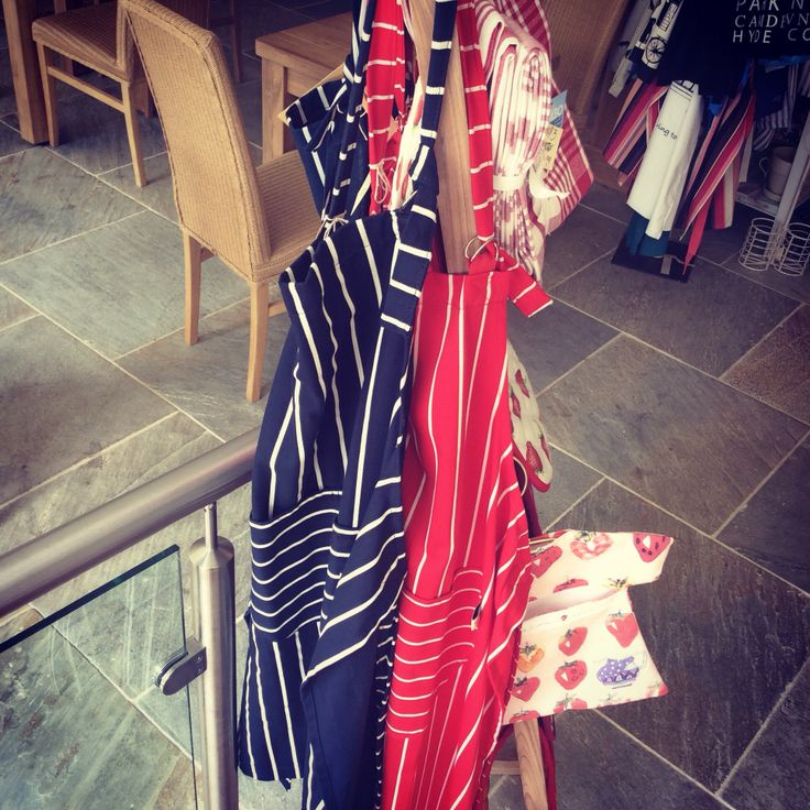 Protect your glad rags and cook in style with one of our stylish pinny's, there's lots more to see here at Rye Bay Kitchen!