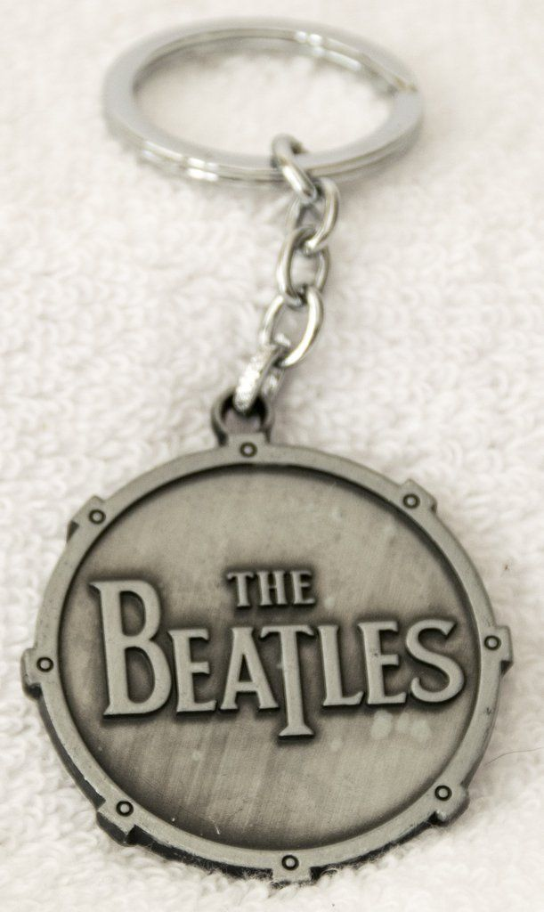 Beatles Drum Key Chain, Metal, Pewter Color - Free Shipping – Wambology