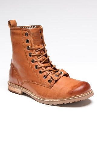 "Cool leather ""work boot"" style."