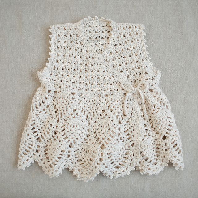 baby cotton crochet dress by plainliving, via Flickr