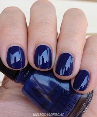 China Glaze Queen B navy blue nail polish