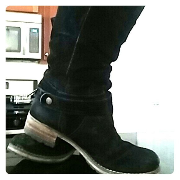 Clarks boots Slouch suede boots Clarks Shoes Combat & Moto Boots