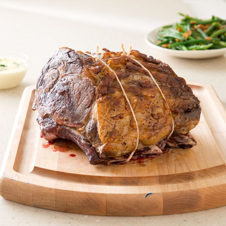 Best Prime Rib [America's Test Kitchen. Sear. Roast at 200 for 3-4 hours (7#), let sit in oven for 30 min, then rest for 30-75 min.]