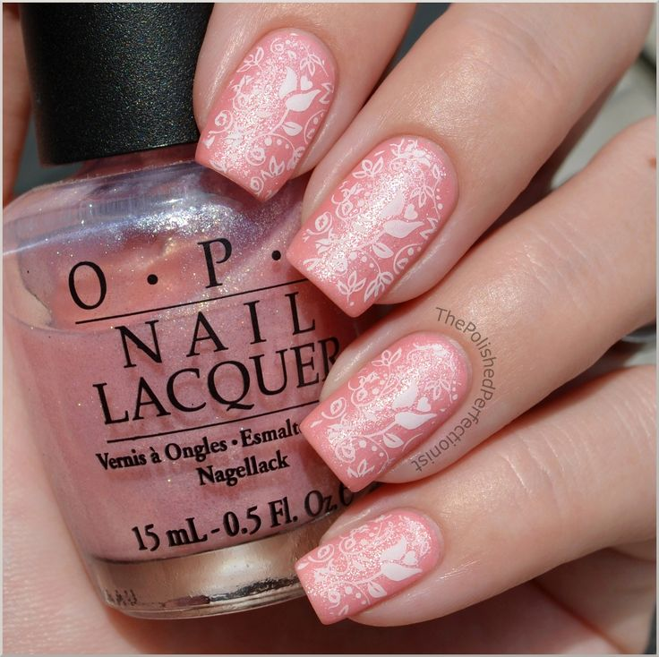 Pink & Delicate with BM-306Nails Stamps, Nails Trends, Floral Prints, Nails Art, Nails Design, Pink Nails, Colors Nails, Nails Polish, Floral Pattern