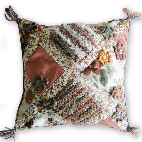 Unique Decorative Cushion -  Shades of Autumn Trellis