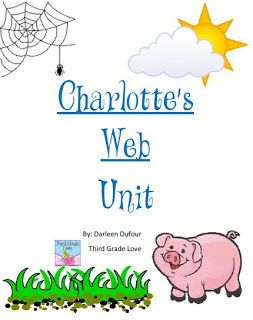 Charlotte's web unit: FREE!!! 3rd grade - great unit study!! Ideas could be applied to many books.