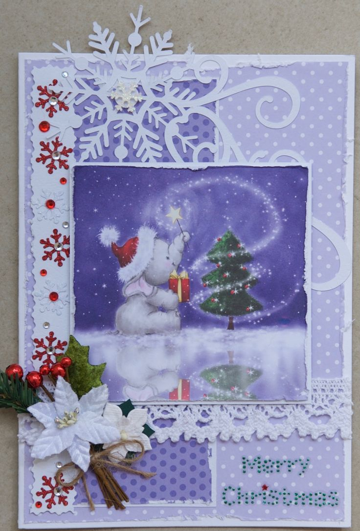 Christmas Card 2016: Wild Rose Studios topper; big snowflake with swirls cut on the Cameo; red and white little snowflakes are Jolee's stickers; Petaloo foliage; do crafts glitter dot sMerry Christmas sticker; papers from the Wild Rose Studios Wintry Christmas pack