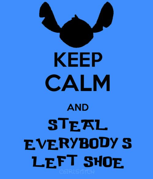 """I don't really care for these """"Keep Calm"""" posters, but this one made me laugh... Lilo and Stitch."""