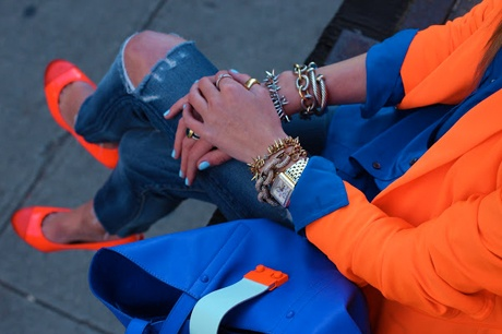 Love the #cobalt and bright orange