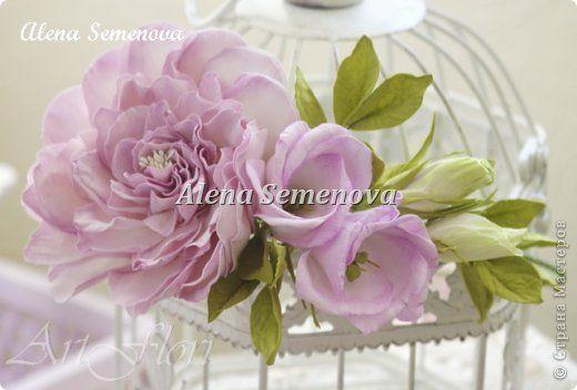 Украшение Выпускной Свадьба Моделирование конструирование Цветы для прически из фоамирана Розы и веночек Фоамиран фом фото 2
