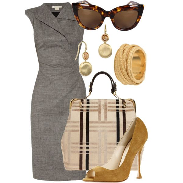 WorkFashion, Style, Offices, Colors Palettes, Workoutfit, Work Outfit, The Dresses, Grey Dresses, Business Chic