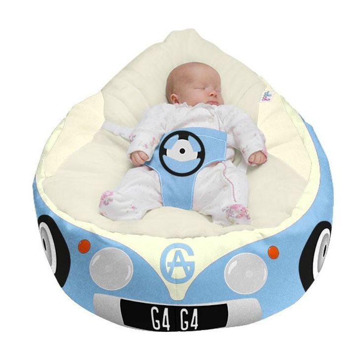 Luxury Cuddle Soft Iconic Campervan Gaga 169 Baby Bean Bags